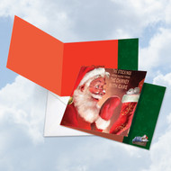 CQ4943CXS - Santa Mouse - Stockings: Square-Top Note Card