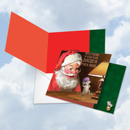 CQ4943BXS - Santa Mouse Sugar Plums: Square-Top Paper Card