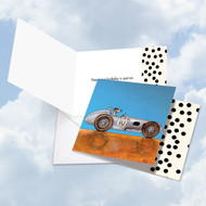 See Spot Drive - A Roadster, Printed Square-Top Birthday Note Card - CQ4977BBDG