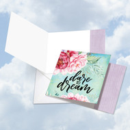 CQ4979AFR - Words Of Encouragement Dare To Dream: Square-Top Note Card