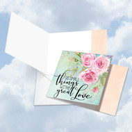 CQ4979BFR - Words Of Encouragement - Great Love: Square-Top Paper Card