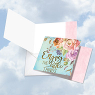 CQ4979CFR - Words Of Encouragement Little Things: Square-Top Note Card