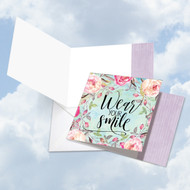 Words Of Encouragement - Smile, Printed Square-Top Blank Greeting Card - CQ4979FFRB