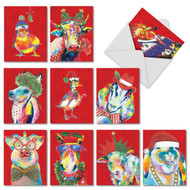 M4982XS - Christmas Funny Farm: Assorted Set of 10 Cards