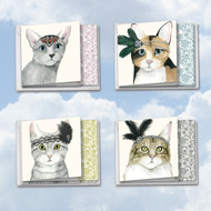 MQ5029OC - Downton Tabby: Square-Top Assorted Set of 12 Cards