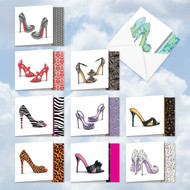 MQ5042OC - Gotta Lotta Sole: Square-Top Assorted Set of 10 Cards