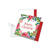 JQ4176GXS - Wreath Greetings: Square-Top Giant Printed Card