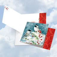 CQ4612BHH - Season's Tweets: Square-Top Greeting Card