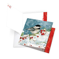 JQ4612AHH - Season's Tweets: Square-Top Over-sized Paper Card