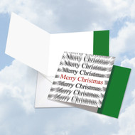 CQ4951AXS - Holiday Words In Motion - Merry Christmas: Square-Top Greeting Card