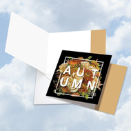 CQ4954COC - 4 Season's Greetings - Autumn: Square-Top Greeting Card