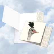 CQ5025COC - Wildlife Glamour Emu: Square-Top Note Card