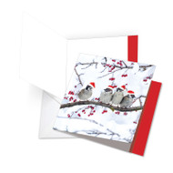 JQ5030AXS - Christmas For The Birds: Square-Top Extra Large Greeting Card