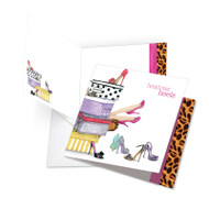 Head Over Heels, Extra Large Square-Top Birthday Note Card - JQ5067JBDG