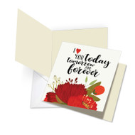 JQ5149VD - Love You Today: Square-Top Large Printed Card