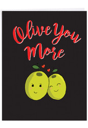 J5189VD - Olive You More: Extra Large Greeting Card