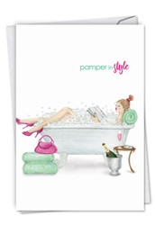 C5523MD - Pamper In Style: Printed Card