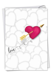 C5524VD - Heart And Arrow: Greeting Card