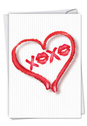 C5526VD - Heart XOXO: Greeting Card