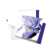 JQ4949DTY - Iridescent Iris: Square-Top Extra Large Paper Card