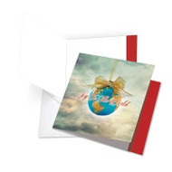 JQ5023AXS - Joy To The Globe: Square-Top Big Paper Card