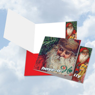 Abstract Wishes - Have A Holly, Printed Square-Top Christmas Greeting Card - CQ5194BXSG