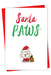 C5550AXS - It Was The Pun Before Christmas - Dog: Greeting Card