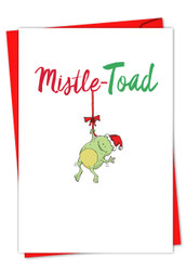 C5550EXS - It Was The Pun Before Christmas - Frog: Greeting Card