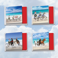 Gallops And Greetings, Assorted Set Of Mini Square-Top Christmas Note Cards - AMQ5074XSG