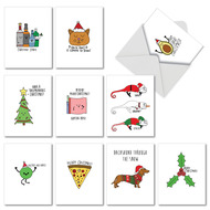 AM5079XS - Fun Christmas Puns: Mini Mixed Set of Cards