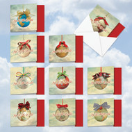 MQ5023XT - Joy To The Globe: Square-Top Mixed Set of 10 Cards