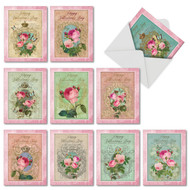 M2379VD - Romance And Roses: Assorted Set of 10 Cards
