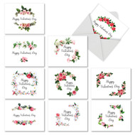 M4175VD - Elegant Flowers: Mixed Set of 10 Cards
