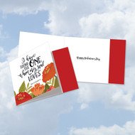 CQ5654HVD - Perfect Love Quotes: Square-Top Greeting Card