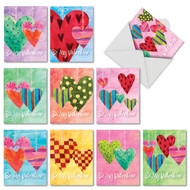 M5656VD - Watercolor Heartworks: Assorted Set of 10 Cards