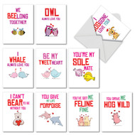 M5660VD - Loving Puns Gone Wild: Assorted Set of 10 Cards