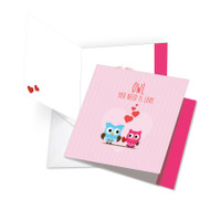 JQ5665GVD - Owl You Need Is Love: Square-Top Extra Large Paper Card