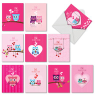 M5665VD - Owl You Need Is Love: Mixed Set of 10 Cards