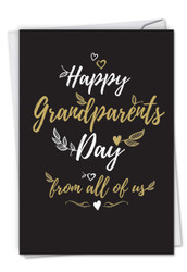Happy Grandparents Day From All, Printed Grandparents Day Greeting Card - C5696GRG-US