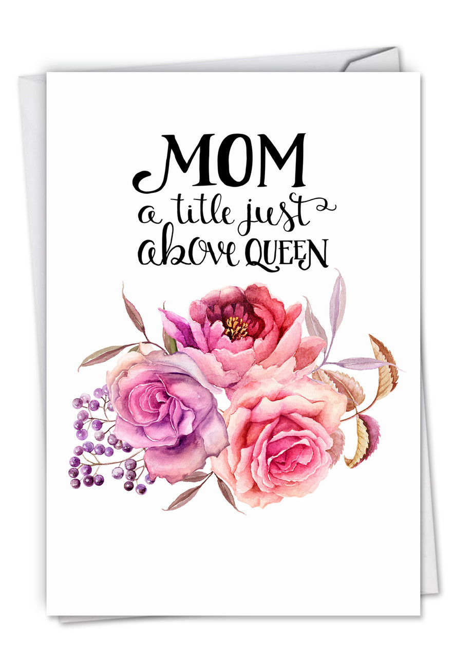 Incredible Mom Title Above Queen Mom Birthday From All Birthday Mother Cards Personalised Birthday Cards Veneteletsinfo