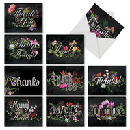 AM2358FT - Chalk And Roses - TY from Teacher: Mini Mixed Set of 10 Cards