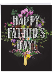 Chalk And Roses, Jumbo Father's Day Grandpa Greeting Card - J2358FFGG