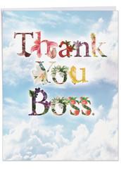 Thanks A Bunch, Extra Large Boss Thank You Greeting Card - J2359ABYG