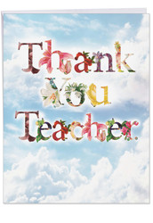 Thanks A Bunch, Extra Large Teacher Thank You Note Card - J2359ATTG