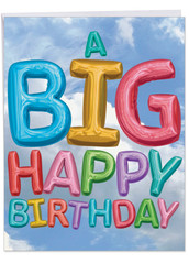 J5651DBD - Inflated Messages from Us - Birthday US: Extra Large Greeting Card