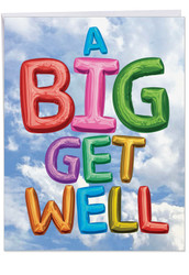 Inflated Messages - From Us, Jumbo Get Well Greeting Card - J5651FGWG-US