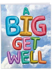 Inflated Messages, Jumbo Get Well Note Card - J5651HGWG