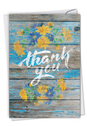C6108CTY - Blooming Driftwood - Thank You: Printed Card
