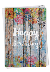 Blooming Driftwood, Printed Birthday Greeting Card - C6108EBDG
