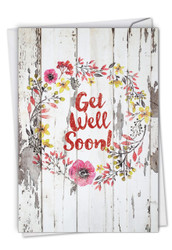 Blooming Driftwood, Printed Get Well Note Card - C6108IGWG